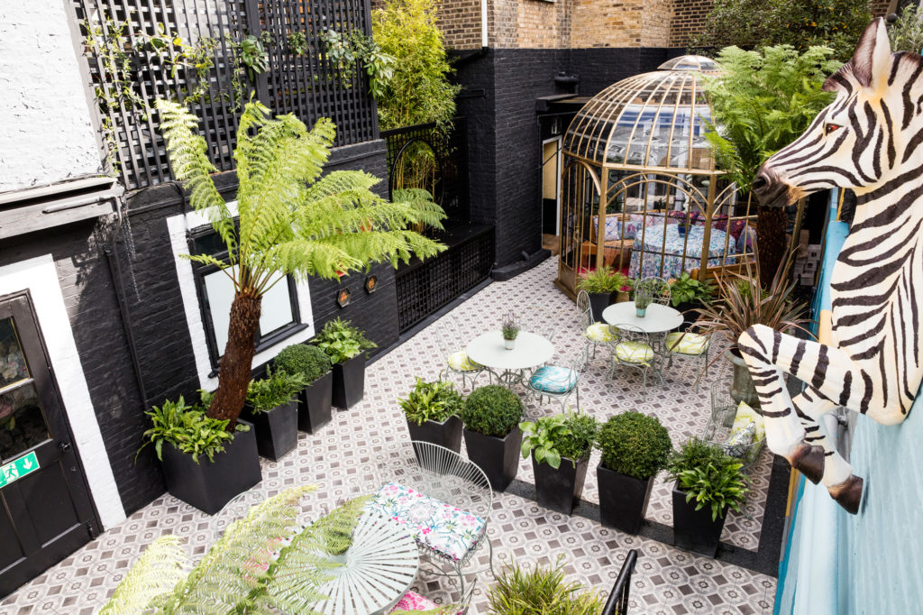 Matthew Williamson first interior design project at Blakes Hotel in London